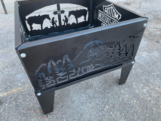 [Metal Fire Pit with Winner's Choice of Design]