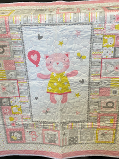 [Hand Quilted Baby Girl Blanket]