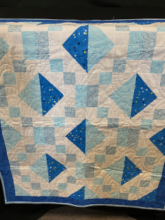 [Hand Quilted Baby Boy Blanket]