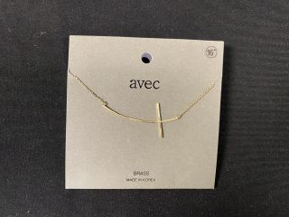 [Gold Curved Cross Necklace]