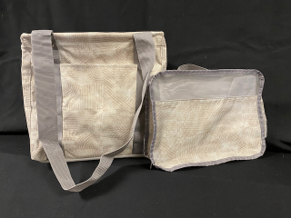 [Small Utility Tote with Matching Small Pouch]