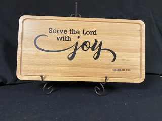 [Serve the Lord with Joy - Decorative Cutting Board]