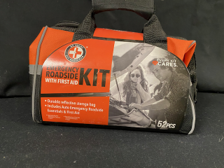[Auto Emergency Roadside Kit with First Aid]