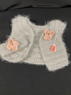 [Hand Crocheted Sweater and Head Band Set]