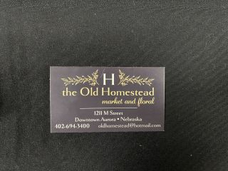 [Old Homestead Gift Certificate]
